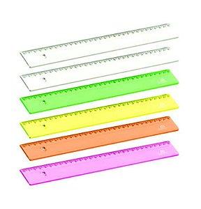Régua Acrimet 965 escolar 30cm pt com 6 un Neon