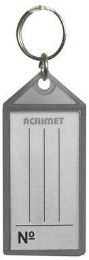 Chaveiro Acrimet 140 plastico com etiqueta de identificação fume