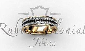 Anel Pavê de Diamantes