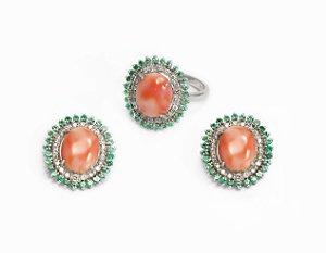 Conjunto De Coral, Esmeraldas e Diamantes