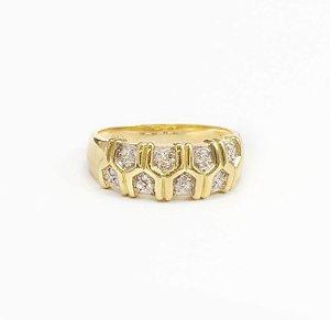 Anel Tiff Ouro 18K e Diamantes