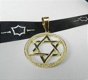Pingente Estrela Davi em Diamantes