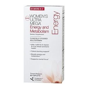 Woman's ultra mega energy gnc 180 capsulas