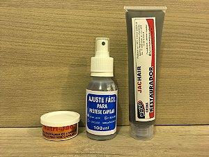 Ajuste Facil P/ Protese Capilar + Creme Restaurador + Nutrijac