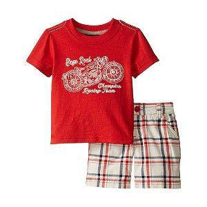 9e9437275f Boys  Rock - Conjunto Camiseta e Bermuda