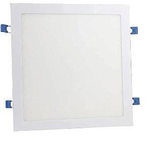 Painel Plafon Led Quadrado De Embutir 24w Luz Frio Ou Quente