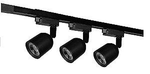 KIT Trilho Eletrificado Sobrepor C/ 3 Spots LED 7W IP20 Iluminação