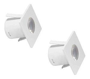 Mini Spot Led Iluminação Para Móveis De Embutir 2 Unidades