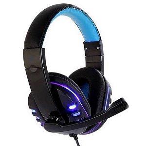Headset Gamer Exbom Hf-g310p4 Com Luz Led Usb Microfone