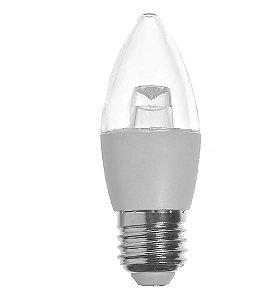 Lâmpada Vela Led Cristal 3w E27 Lustre Pendente Candelabro