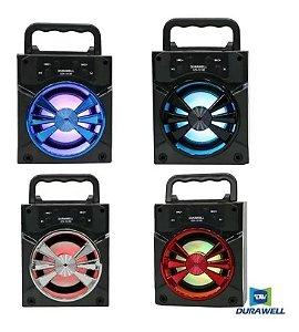 Caixa De Som Bluetooth Portátil Painel Led Power Hi-fi Dj