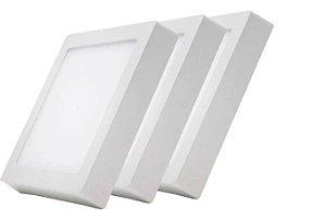 Kit 3 Paflon Painel Led Luminária Sobrepor Quadrado 24w 25w