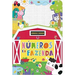Livro com Lousa Mágica Colorida Números na Fazenda