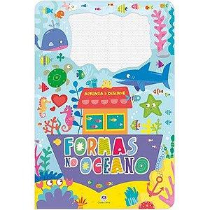 Livro com Lousa Mágica Colorida Formas no Mar