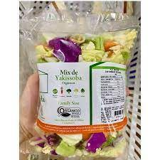 Mix Yakissoba (brócolis, couve-flor, repolho verde e roxo, cenoura e acelga)- pct 300g