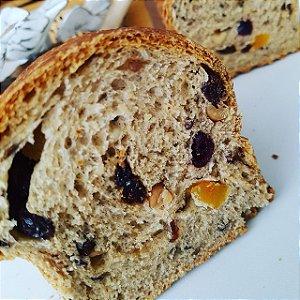 Pão Integral com Frutas e Oleaginosas - 450g