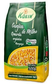 Canjica Orgânica de Milho Amarela para MUNGUNZÁ - 500g