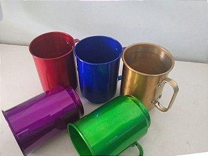 canecas coloridas para sublimação 600ml  10 und