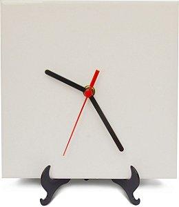 Relógio em Azulejo para Sublimação c/ suporte 10und