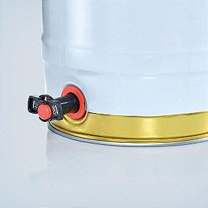 Barril 5l com torneira (Keg 5l) Branco e Dourado Alemao