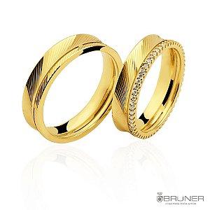 Aliança diamantada / Aliança com brilhante diamantada