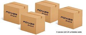 Power Snack - Chips de Batata-doce 45g, Churros - kit com 96 unidades
