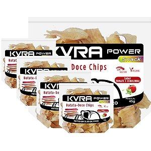 Power Snack - Chips de Batata-doce - Tomate e cebolinha - kit com 5 unidades