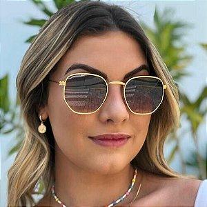 Óculos de Sol Unissex Hexagonal