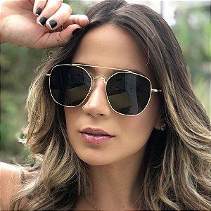 Óculos de Sol Unissex Geométrico