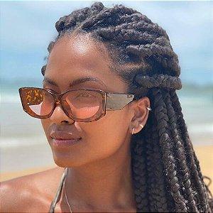 Óculos de Sol Feminino Tartaruga