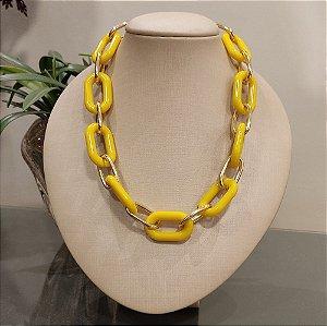 Colar Dourado Elo Amarelo
