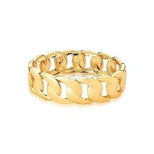 Pulseira Bracelete Dourado Grumet Vazado