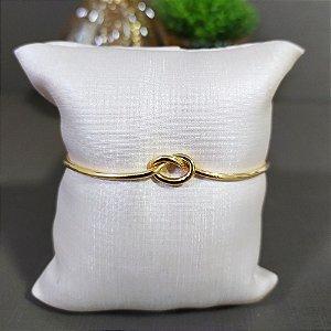Bracelete Dourado Nó P