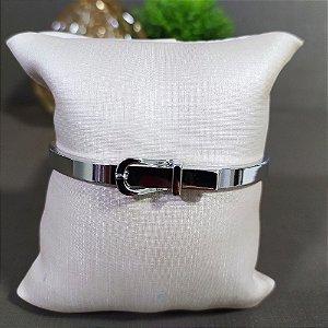 Bracelete Ródio Cinto Liso