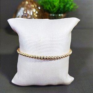 Bracelete Dourado  Bolinhas