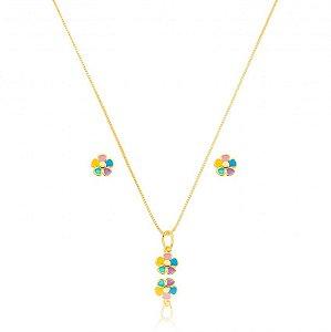 Conjunto Dourado Petit Florzinha