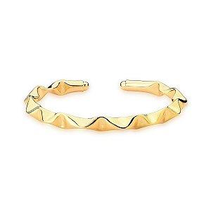 Bracelete Dourado Trabalhado Curvo