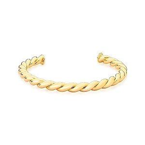 Bracelete Dourado Trabalhado Torcido