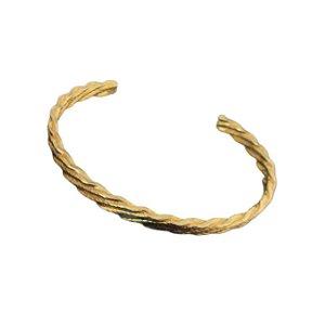 Bracelete Dourado Torcido