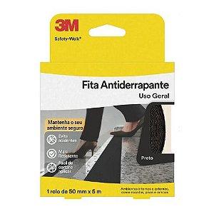 FITA ANTIDERRAPANTE SAFETY WALK PRETO 50X5 3M