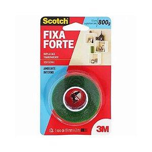 FITA DUPLA FACE (FIXA FORTE) TRANSPARENTE 19mmX2m - 3M