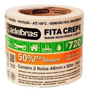 FITA CREPE 720 PALHA 48MMX50M ADELBRAS