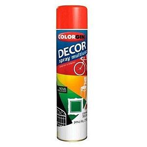 DECOR SPRAY VERMELHO METALICO 350ml - COLORGIN