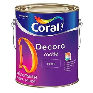 DECORA FOSCO BRANCO 3,6L - CORAL