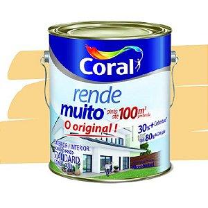TINTA ACRÍLICA RENDE MUITO AMARELO CANÁRIO 3,6L - CORAL
