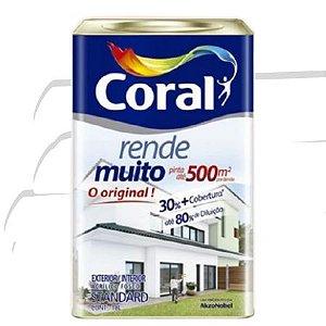 TINTA ACRÍLICA RENDE MUITO BRANCO 18L - CORAL