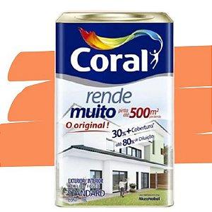 TINTA ACRÍLICA RENDE MUITO LARANJA IMPERIAL 18L - CORAL