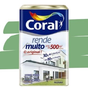 TINTA ACRÍLICA RENDE MUITO VERDE ANGRA 18L - CORAL