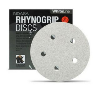 DISCO HOOKIT D150 P280 6 FUROS RHYNOGRIP WHITE - INDASA