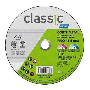 DISCO CORTE INOX CLASSIC AR 102 180X1,6X22,23 - NORTON